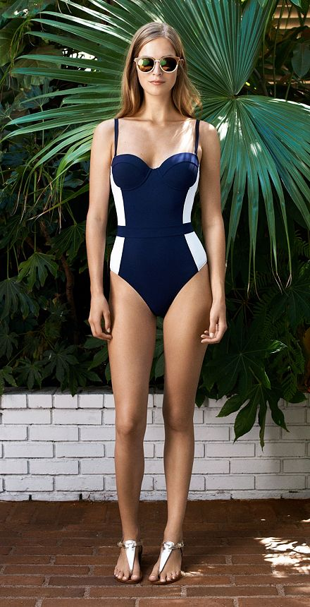 "Tory Burch ""Lipsi"" One-Piece via Toryburch.com"