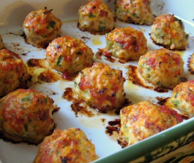 Baked Chicken Meatballs via Dandy Dishes