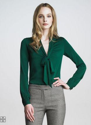 Rachel-Zoe-Natalie-Tie-Neck-Blouse-Green