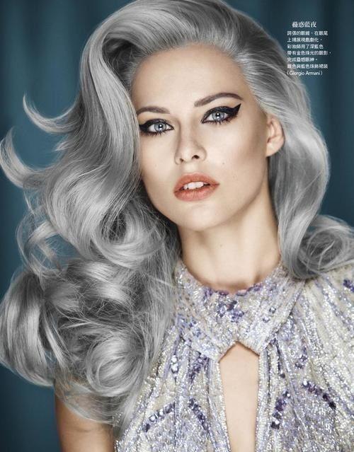 Grey hair everywhere gray hair vintage roll curls urmus Choice Image