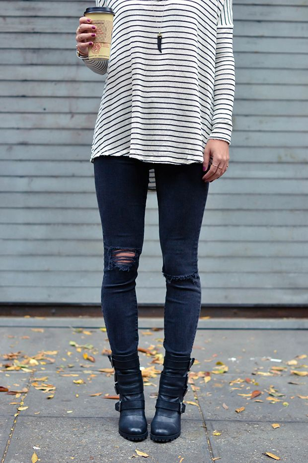 stripes dressed down