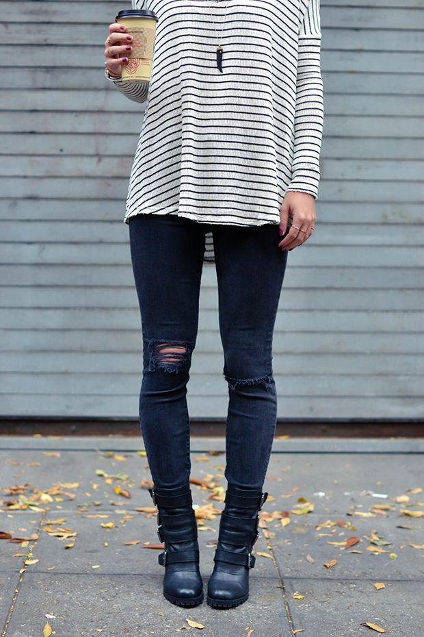 stripes dressed down