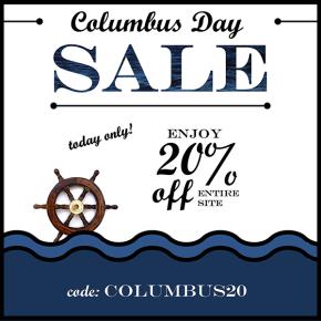 2015 10 11 Columbus Day Sale