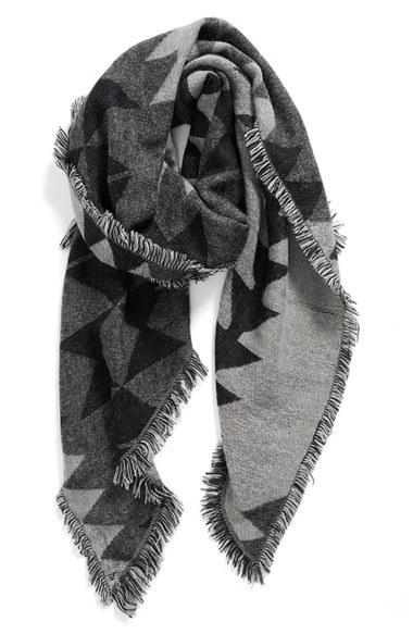 geo print blanket scarf
