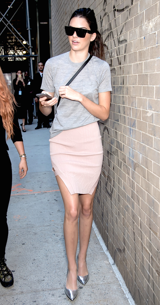 NEW YORK, NY - SEPTEMBER 16: Model Kendall Jenner is seen arriving at Michael Kors fashion show during Spring 2016 New York Fashion Week on September 16, 2015 in New York City. (Photo by Gilbert Carrasquillo/FilmMagic)