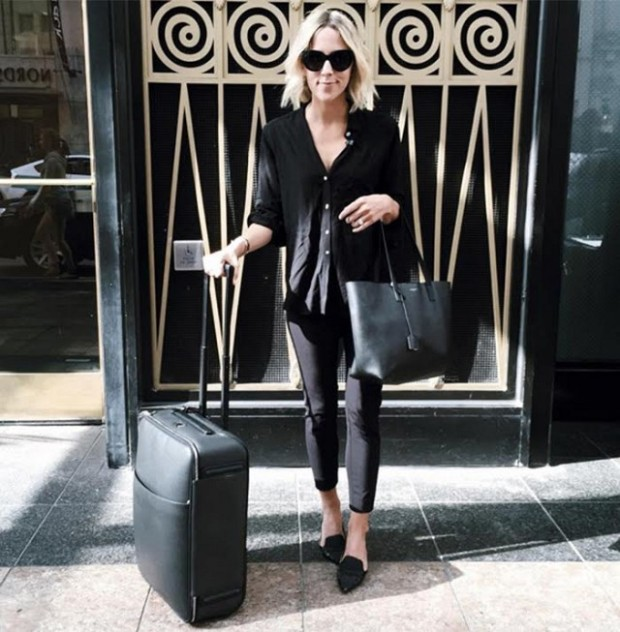 airport-jetsetter-style-travel-outfit-all-black-suitcases-damsel-in-dior
